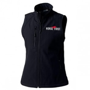 Ladies Soft Shell Gilet in Black